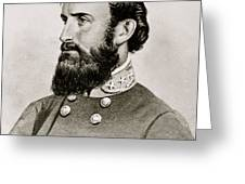 Stonewall Jackson Confederate General Portrait Greeting Card