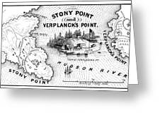 Stony Point Map, 1779 Greeting Card by Granger