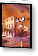 Stop- French Quarter Ahead Greeting Card