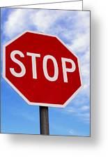 Stop Sign Ireland Greeting Card