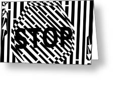 Stop Sign Maze Greeting Card