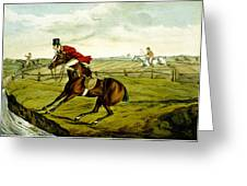 Stopping At Water From Qualified Horses And Unqualified Riders Greeting Card