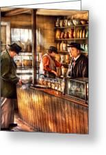 Store - Ah Customers Greeting Card by Mike Savad