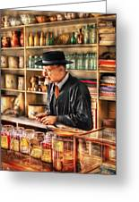 Store - In The General Store Greeting Card by Mike Savad