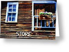 Storefront Rustic Greeting Card