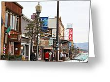 Storefront Shops In Truckee California 5d27489 Greeting Card by Wingsdomain Art and Photography
