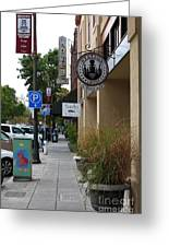 Storefronts In Historic Railroad Square Area Santa Rosa California 5d25806 Greeting Card