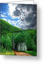 Storm Above Pennock Pass Colorado Greeting Card by Ric Soulen