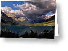 Storm Above St. Mary Lake Greeting Card