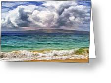 Storm Across The Channel Greeting Card