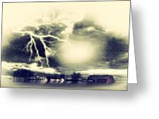Storm And Flood Greeting Card
