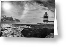 Storm Approaching Hook Head Greeting Card