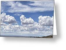 Storm Approaching Panorama Greeting Card