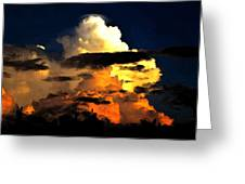 Storm At Dusk Greeting Card by David Lee Thompson