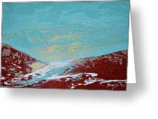 Storm At Red Rock Ridge Greeting Card