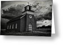 Storm At San Rafael Church Greeting Card
