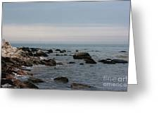 Storm At Sea In Rhode Island Greeting Card