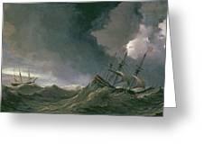 Storm At Sea Greeting Card