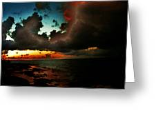 Storm At Sundown  Greeting Card