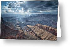 Storm At The Canyon Greeting Card