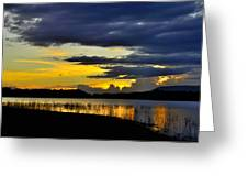 Storm At The Lake Greeting Card