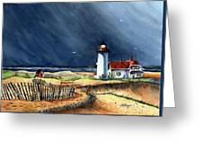 Storm At The Point Greeting Card