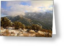 Storm Atop Oquirrhs Greeting Card by Chad Dutson