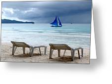 Stormy Beach - Boracay, Philippines Greeting Card