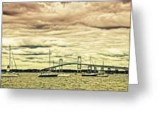 Storm Brewing In Newport Greeting Card