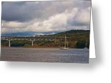 Storm Brewing Over Rip Van Winkle Bridge Greeting Card