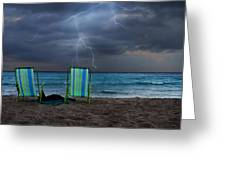 Storm Chairs Greeting Card by Laura Fasulo