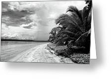 Storm Cloud On The Horizon Greeting Card by John Rizzuto