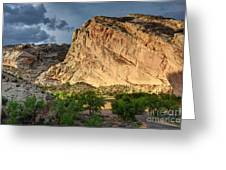 Storm Clouds Above Split Mountain Dinosaur National Monument Greeting Card