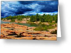 Storm Clouds Approaching Chikanashing Greeting Card