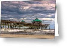 Storm Clouds Approaching - Hdr Greeting Card