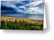 Storm Clouds In Door County Greeting Card