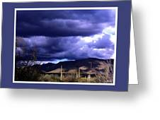 Storm Clouds In The Desert Greeting Card