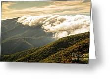 Storm Clouds Moving Out On The Blue Ridge Greeting Card