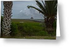 Storm Clouds Near Port Lavaca Greeting Card