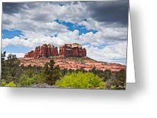 Storm Clouds Over Cathedral Rocks Greeting Card