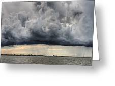 Storm Clouds Over Charleston South Carolina Greeting Card