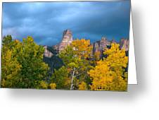 Storm Clouds Over Chimney Rock Greeting Card