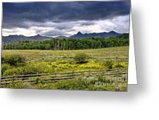Storm Clouds Over The Rockies Greeting Card