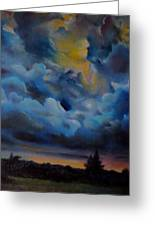 Storm Coming At The Sunset Greeting Card