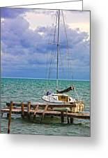 Storm Coming Caye Caulker Belize Greeting Card