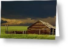 Storm Crossing Prairie 2 Greeting Card