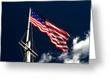 Storm Flag At Fort Mchenry Greeting Card