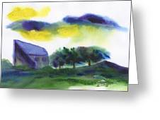 Storm In The Countryside Greeting Card