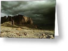 Storm In The Superstitions Greeting Card