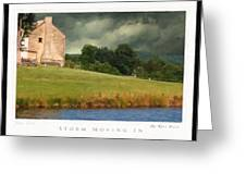 Storm Moving In Greeting Card